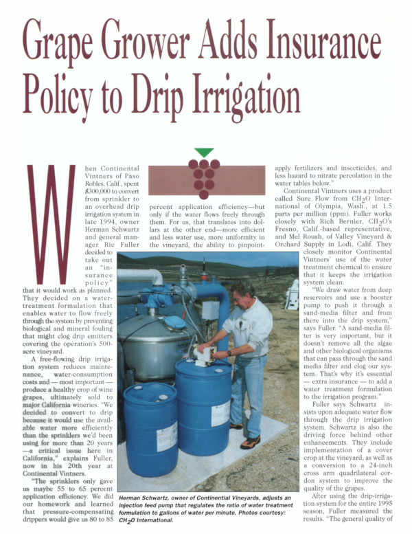 Grape Grower Adds Insurance Policy to Drip Irrigation