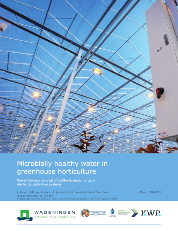 Microbially Healthy Water in Greenhouse Horticulture