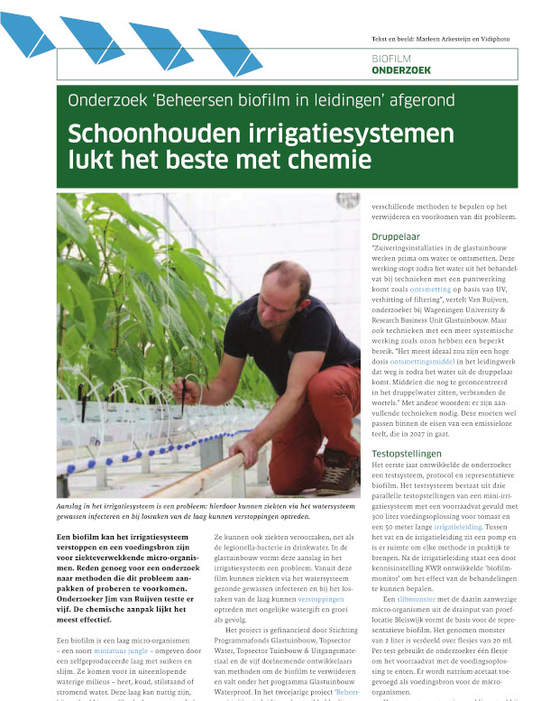 Cleaning Irrigation Systems is Best Done with Chemistry